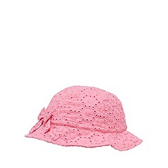 bluezoo - Pack of two babies pink broderie hats