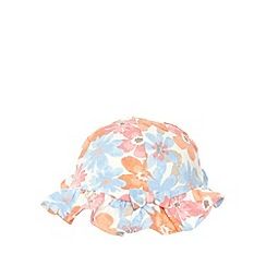 bluezoo - Pack of two babies pink plain and floral jersey hats