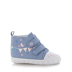 bluezoo - Babies blue bunting bird shoes
