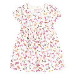 bluezoo - Girl's white butterfly jersey dress