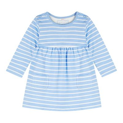 bluezoo Babies blue striped sweat dress - . -