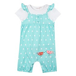 bluezoo - Babies aqua fruit bibshorts set