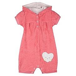 bluezoo - Babies pink towel bibshorts
