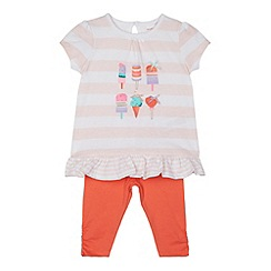 bluezoo - Babies light pink ice cream tunic and leggings set
