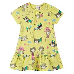bluezoo - Babies yellow cat print dress