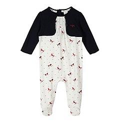 J by Jasper Conran - Designer babies white horse sleepsuit