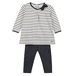 J by Jasper Conran - Designer babies navy striped tunic and bottoms set