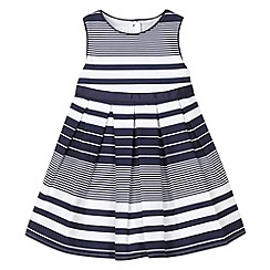 J by Jasper Conran - Designer babies navy irregular striped dress