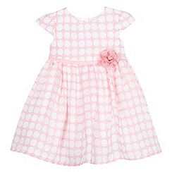 J by Jasper Conran - Designer babies pink spotted chiffon dress
