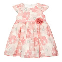 J by Jasper Conran - Designer babies pink floral chiffon dress