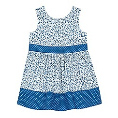 J by Jasper Conran - Designer girl's blue ditsy floral dress