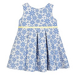 J by Jasper Conran - Designer girl's blue jacquard floral dress