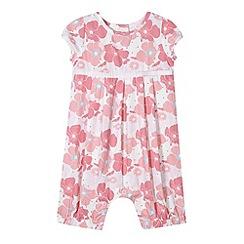 J by Jasper Conran - Designer babies pink floral romper suit