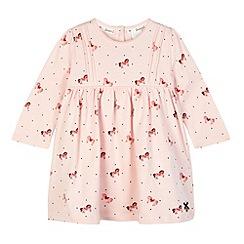 J by Jasper Conran - Designer babies pink horse print dress