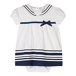 J by Jasper Conran - Designer babies white sailor 2-in-1 dress and bodysuit
