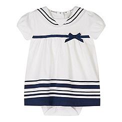 J by Jasper Conran - Designer babies white sailor 2-in-1 dress and bodysuit
