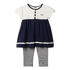 J by Jasper Conran - Designer babies navy empire tunic and leggings set