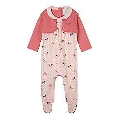 J by Jasper Conran - Designer babies pink horse sleepsuit