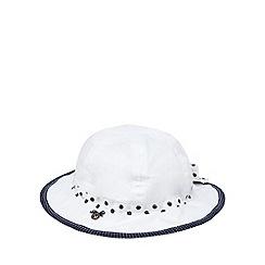 J by Jasper Conran - Designer babies white spotted trim hat
