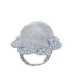 J by Jasper Conran - Babies designer blue petal brim floral hat