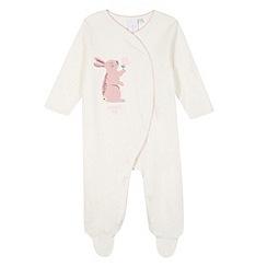 J by Jasper Conran - Designer babies white bunny sleepsuit