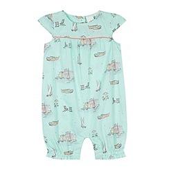 J by Jasper Conran - Designer babies green riviera print romper suit