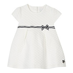 J by Jasper Conran - Designer babies white soft quilted dress