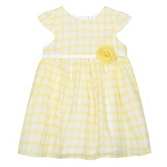 J by Jasper Conran - Designer babies yellow spot georgette dress