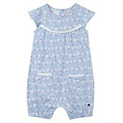 J by Jasper Conran - Designer babies pale blue floral romper suit