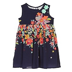 RJR.John Rocha - Designer girl's navy floral button dress