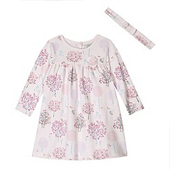 RJR.John Rocha - Designer babies light pink tree printed dress and headband set
