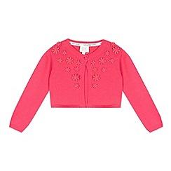 RJR.John Rocha - Designer babies pink flower applique cropped cardigan