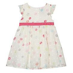 RJR.John Rocha - Designer girl's white spotted dress