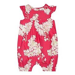 RJR.John Rocha - Designer babies pink woven floral romper suit