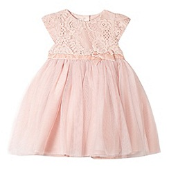RJR.John Rocha - Designer babies light pink lace occasion dress