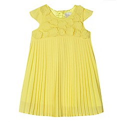 RJR.John Rocha - Designer babies yellow applique flower dress