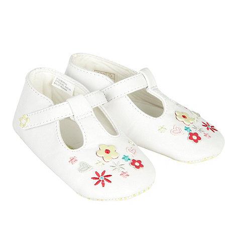 RJR.John Rocha - Designer Babies white flower detail booties