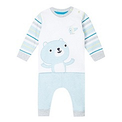bluezoo - Babies light blue bear t-shirt and joggers
