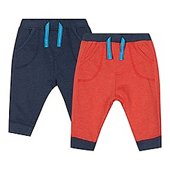bluezoo - Pack of two babies navy ribbed joggers