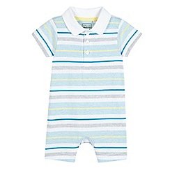 bluezoo - Babies light blue striped romper suit
