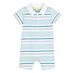 bluezoo - Babies light blue striped romper suit