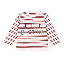 bluezoo - Babies white 'Little Brother' striped top
