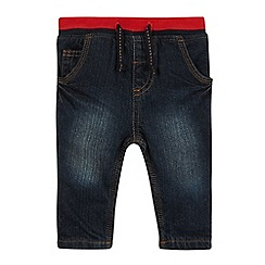 bluezoo - Babies dark blue ribbed waist jeans