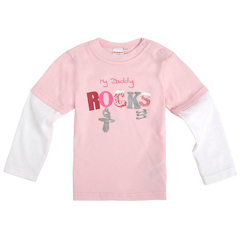 bluezoo - Babies pink daddy print top