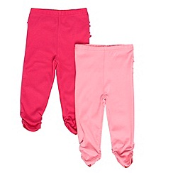 bluezoo - Babies pack of two pink leggings