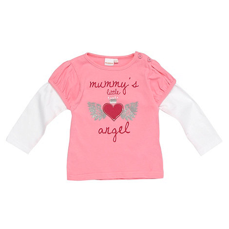 bluezoo - Babies pink +Mummy+s Little Angel+ top