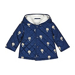 bluezoo - Babies navy quilted bear coat