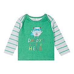 bluezoo - Babies green 'Little Hero' top