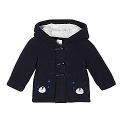 bluezoo - Babies navy bear pocket fleece jacket