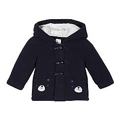 bluezoo - Babies navy bear pocket fleece jacket